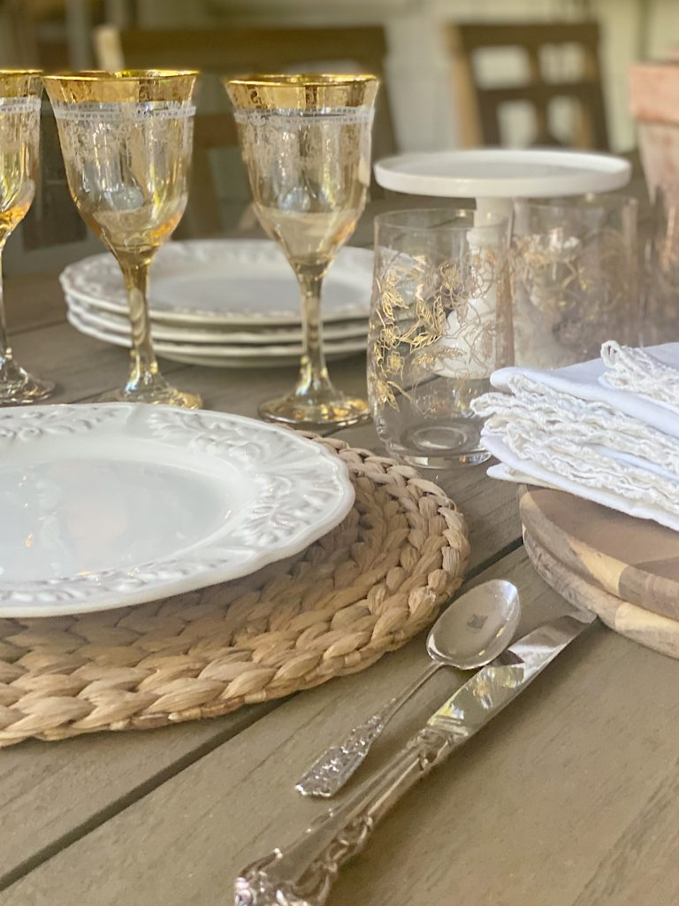 Summer Fun Outdoor Party Selecting Tableware