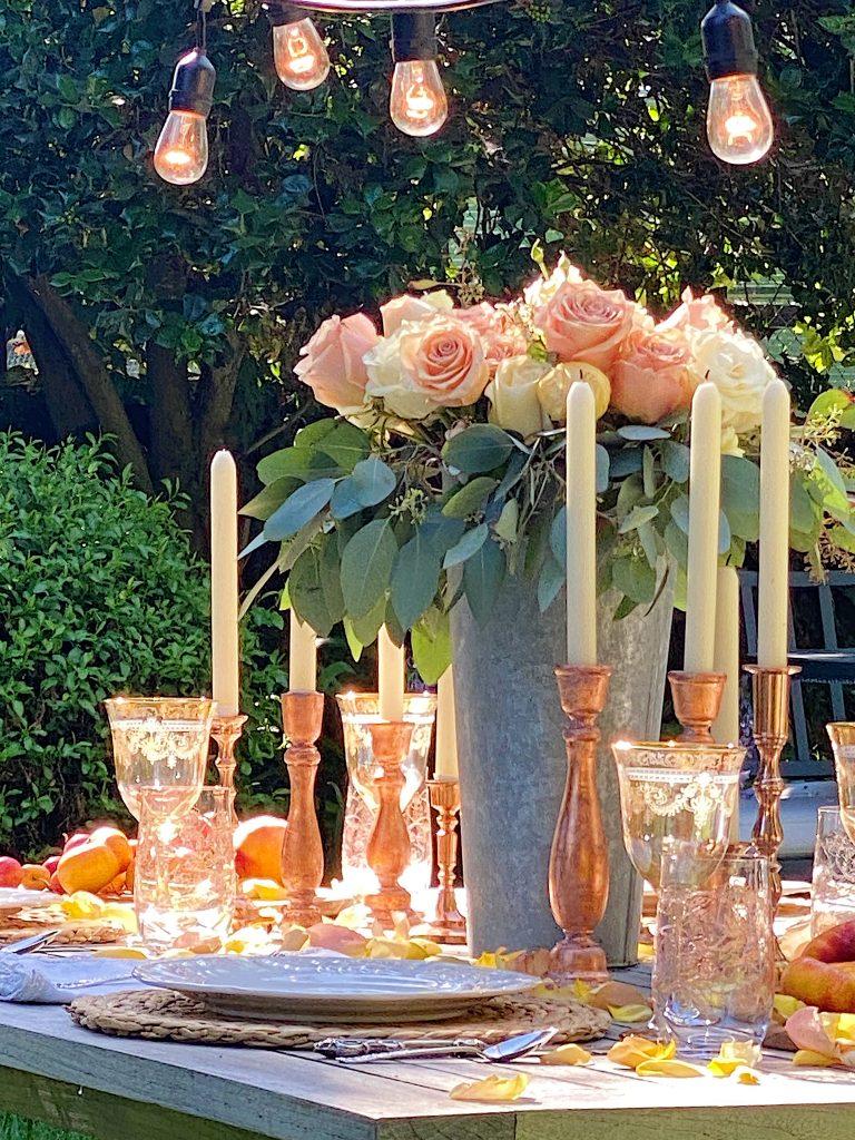 Summer Fun Outdoor Party Sunlit Flowers