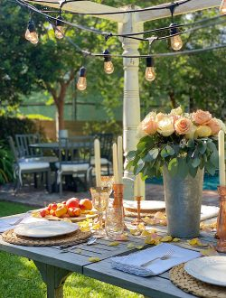 Summer Fun Outdoor Party Table Poolside