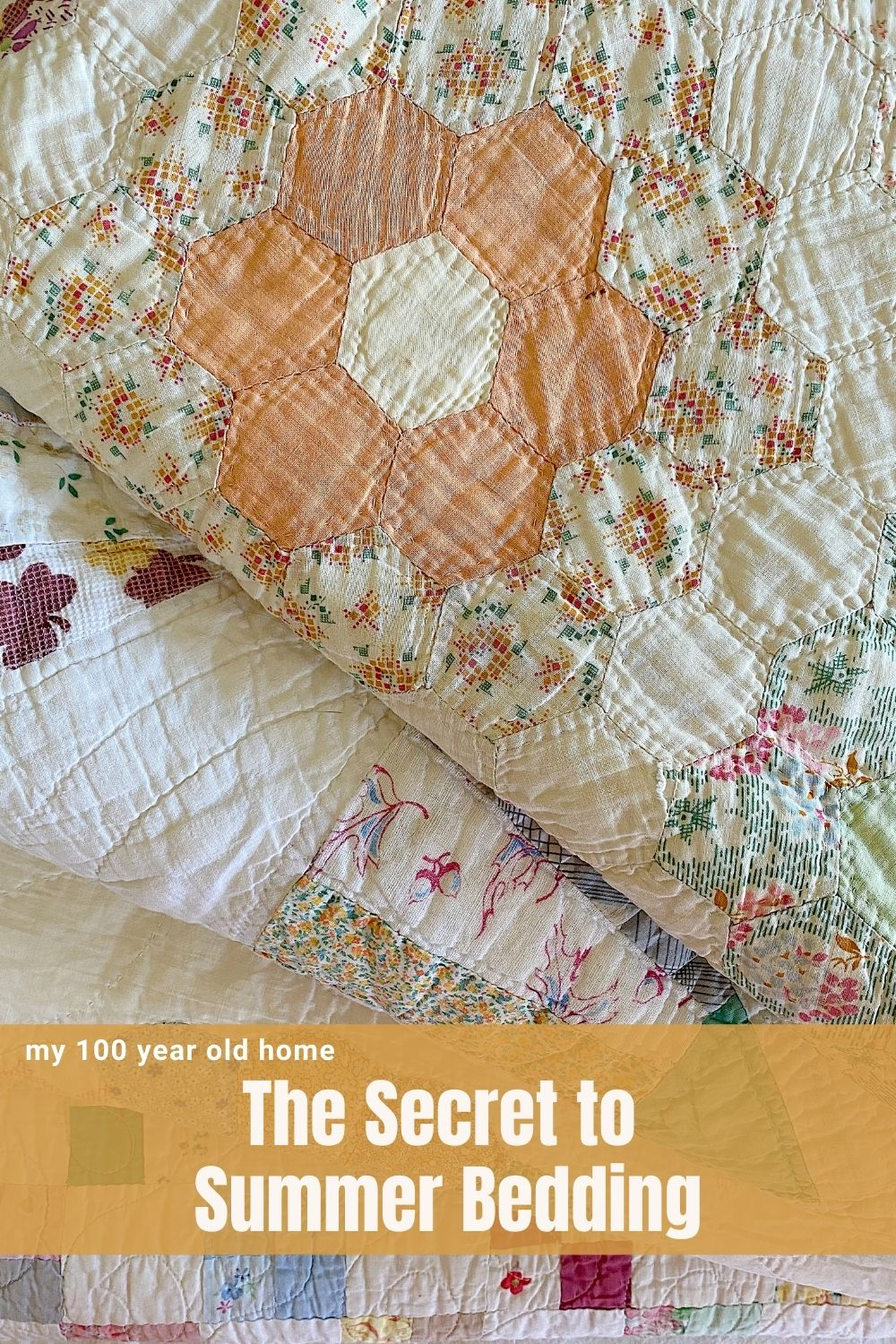 Summer nights are tough as we all struggle between heat and air conditioning. The secret is summer bedding and a homemade quilt.