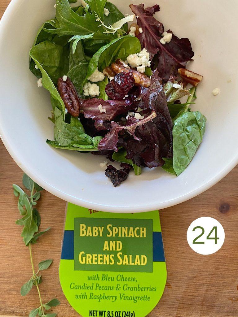 Trader Joe's Baby Spinach and Greens Salad