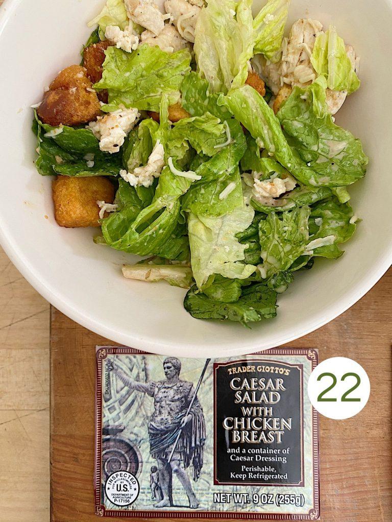 Trader Joe's Caesar Salad with Chicken