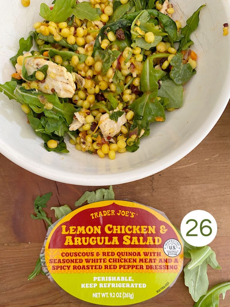 Trader Joe's Lemon Chicken and Arugula Salad