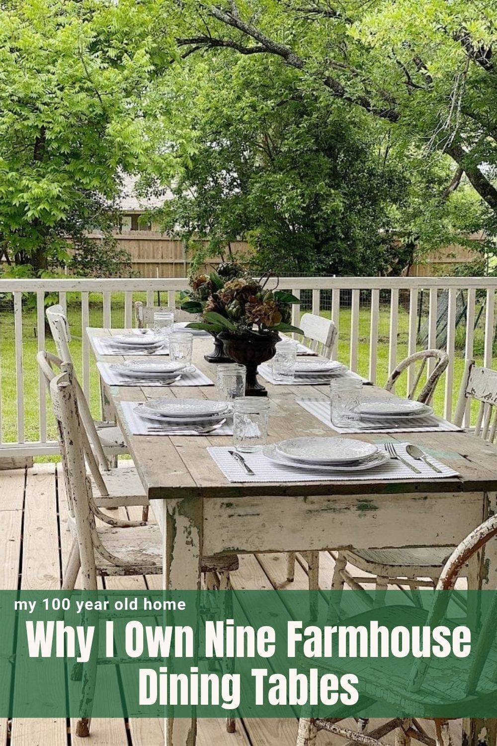 Ok. So maybe I didn't actually know that I owned nine farmhouse dining tables until I wrote this post. They are all wonderful wood tables.