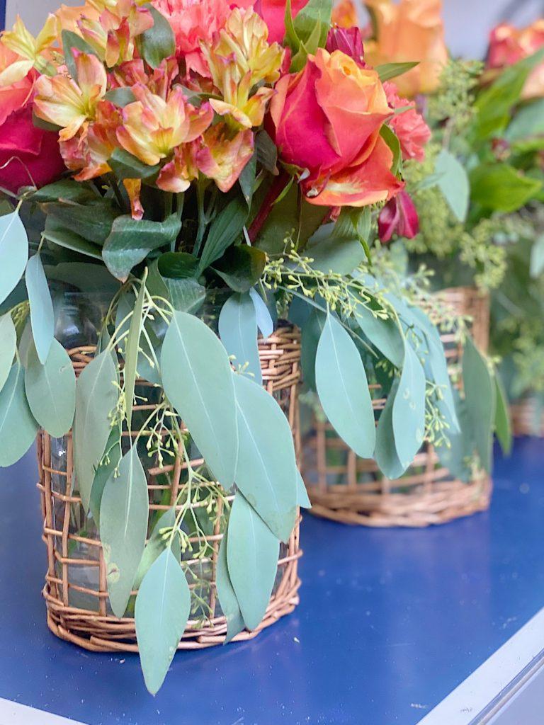 Arranging Flowers for Summer Beach Dinner
