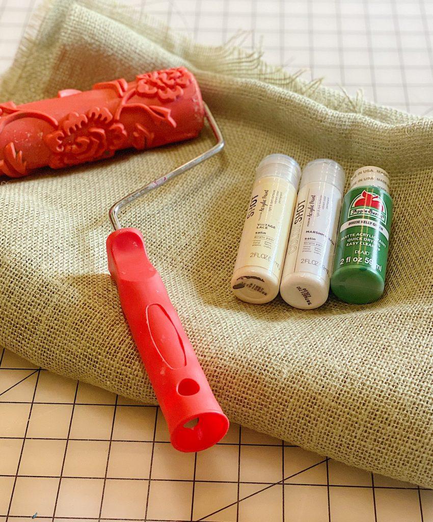 Burlap Table Runner DIY Supplies