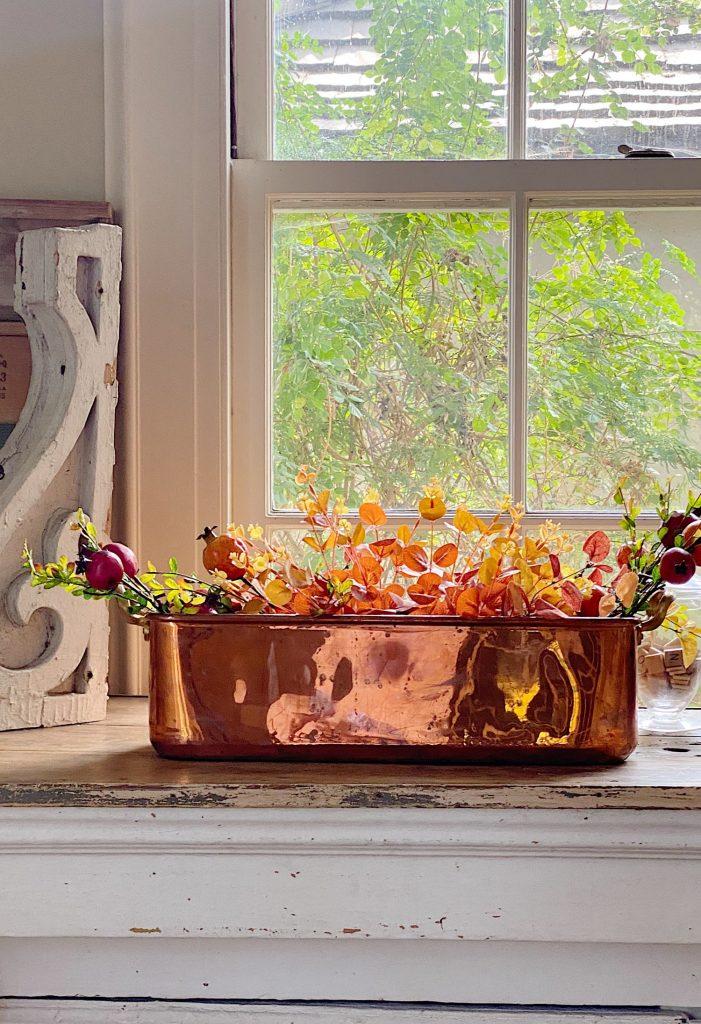 Copper Pot Fall Home Decor