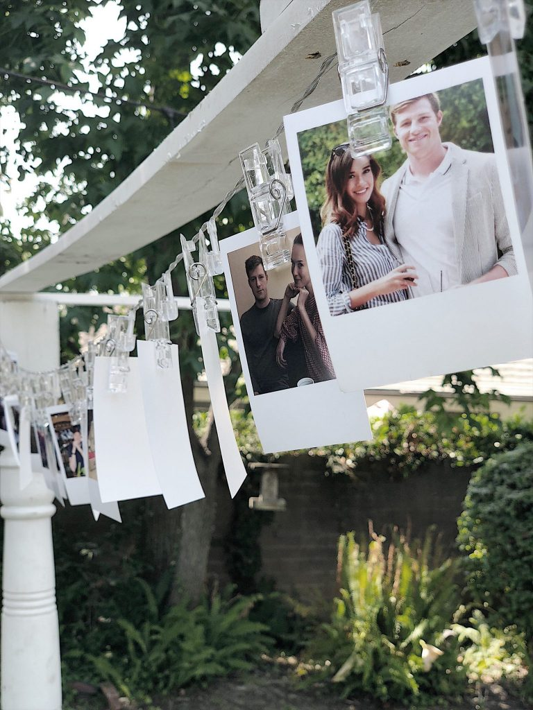 Engagement Party Decorations with Polaroid Photos