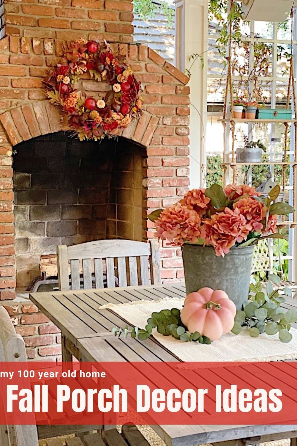 Today I am sharing porch decor ideas for fall with fourteen other bloggers. I loved styling our fall porch and love these colors!