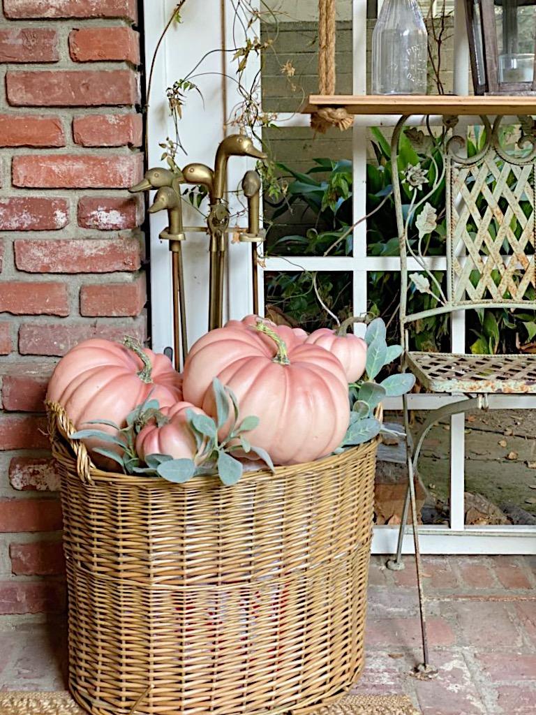 Fall Porch Decor Pumpkins