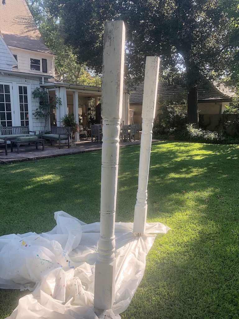 Outdoor Party with Porch Posts