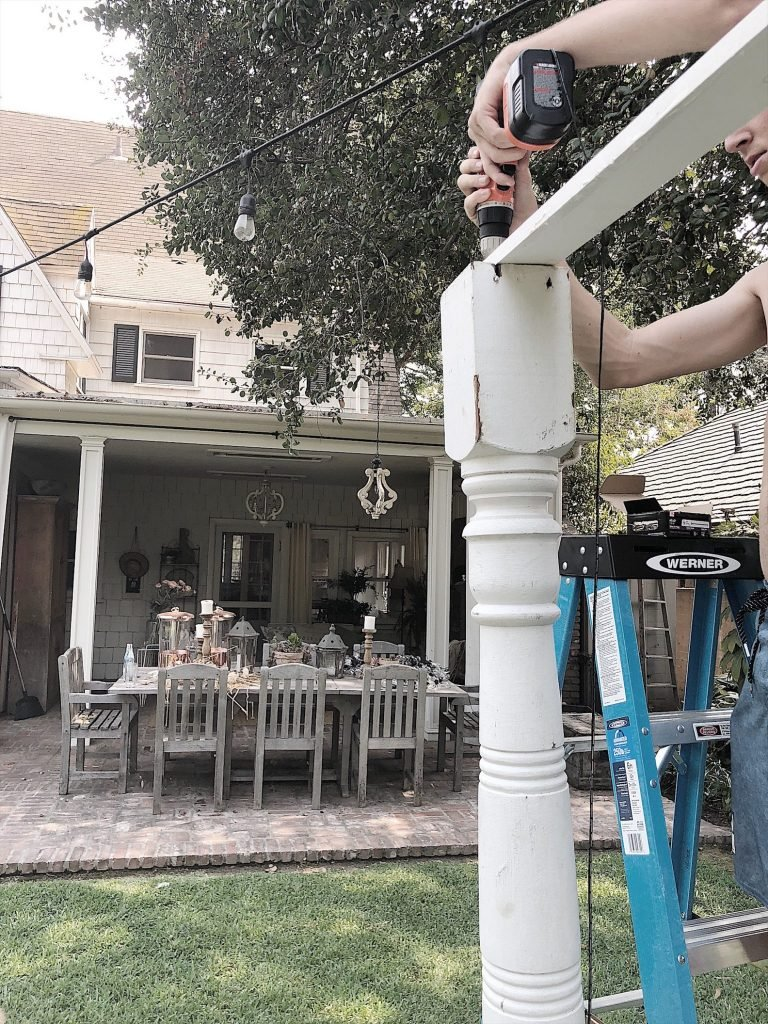 Outdoor Party with Porch Posts 5