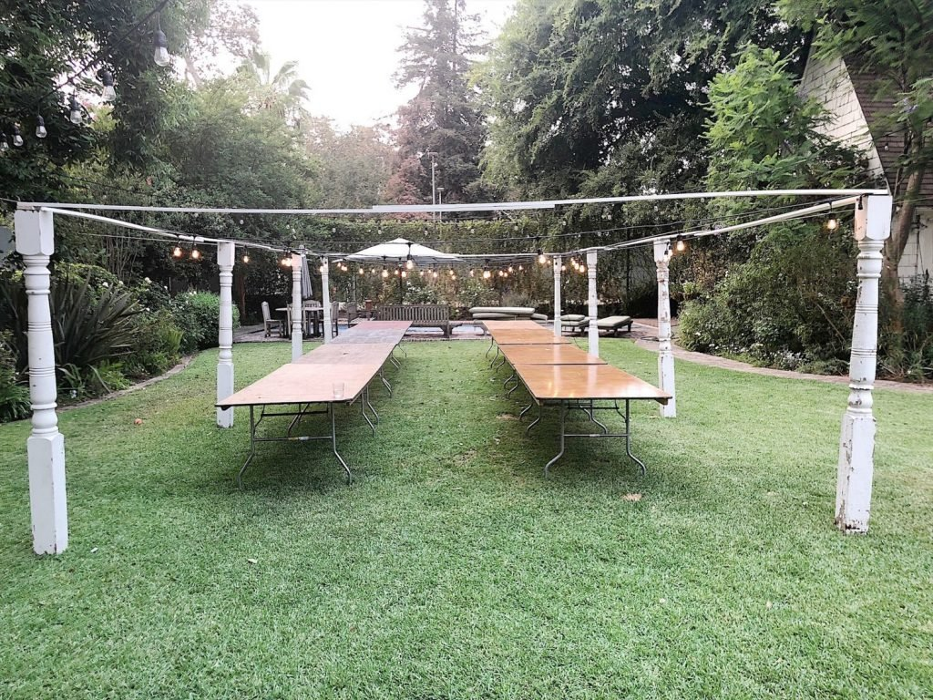 Outdoor Party with Porch Posts 8