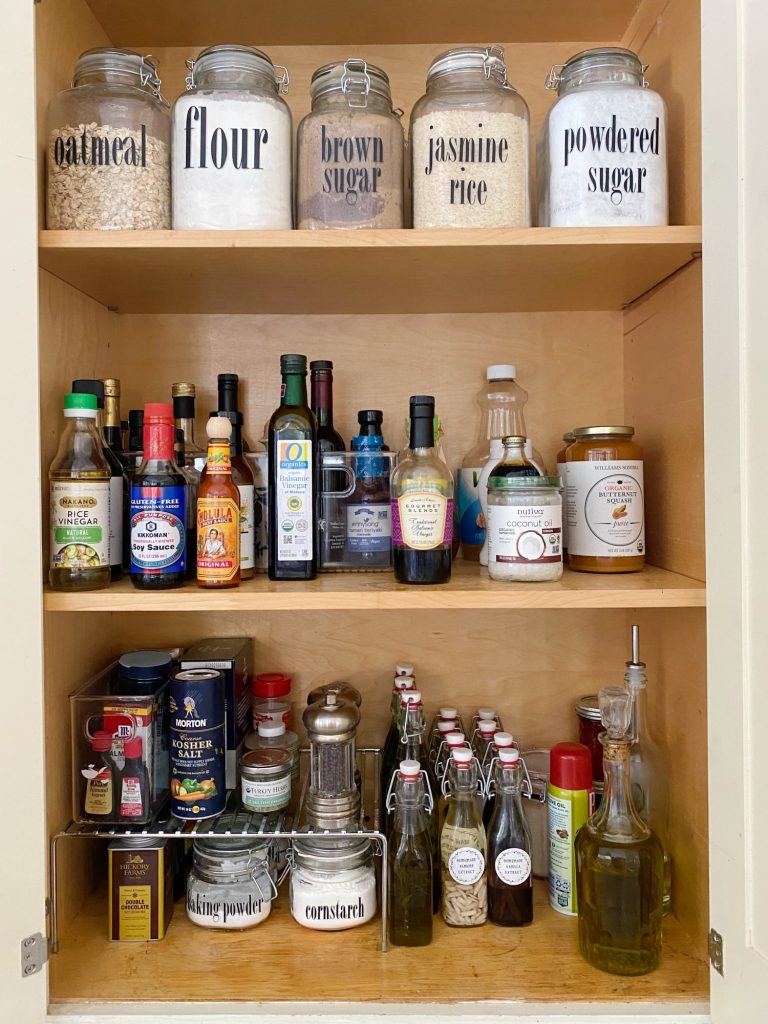 Pantry Cabinet Ideas for Fall Olive Oil