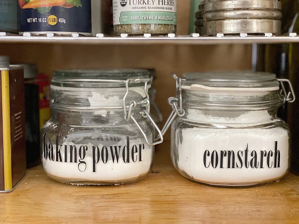 Pantry Cabinet Ideas for Fall Personalized Canisters