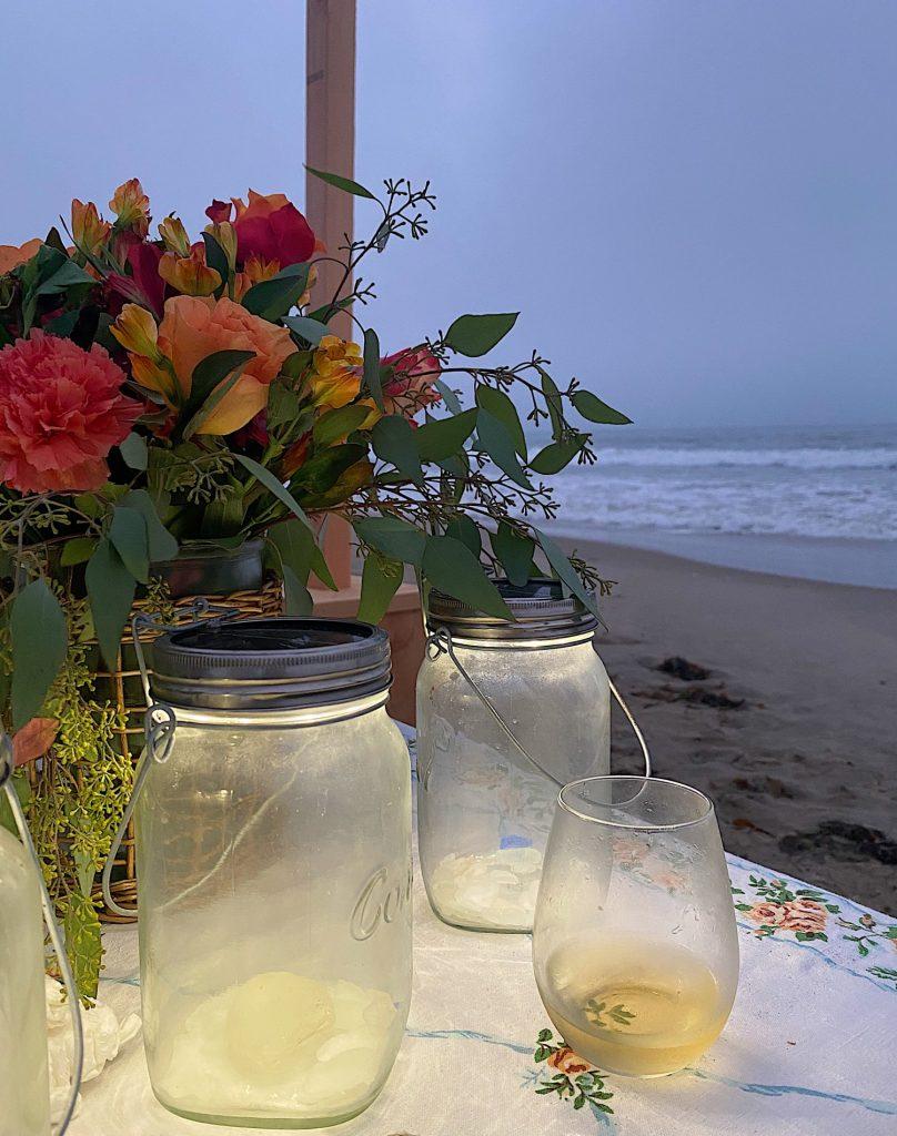 Summer Beach Dinner at Sunset