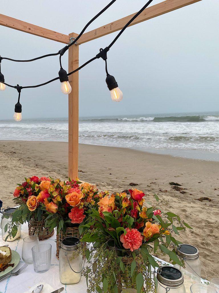 Summer Beach Dinner by the Waves