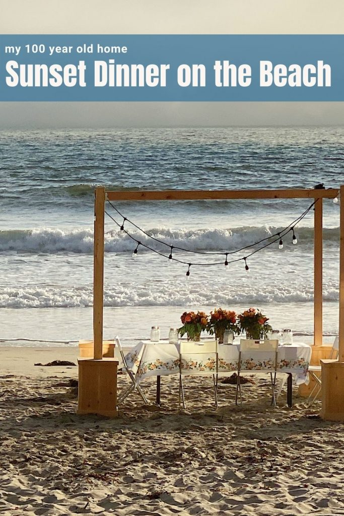 Sunset Dinner on the Beach for Four