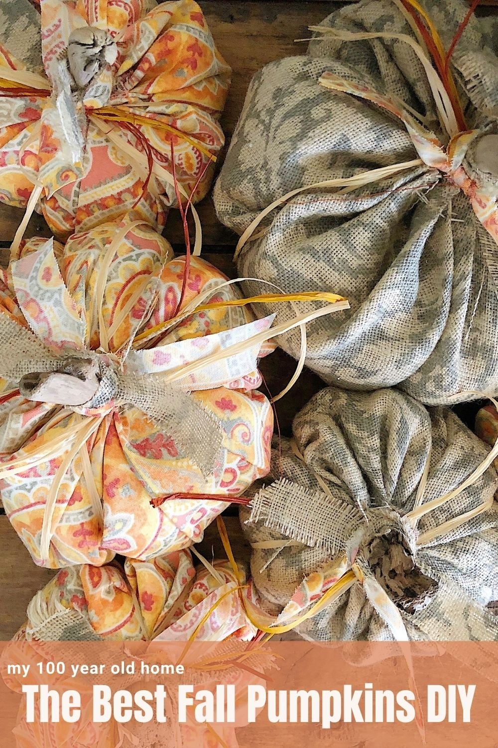 As you are getting ready for fall, I want to share a very fun Fall Pumpkins DIY. I made these pumpkins with fall fabric and driftwood!