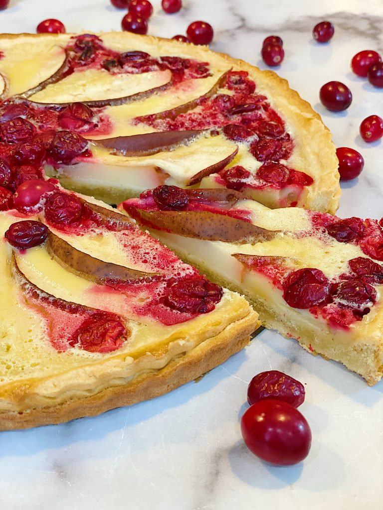 Cranberry Tart with Pears