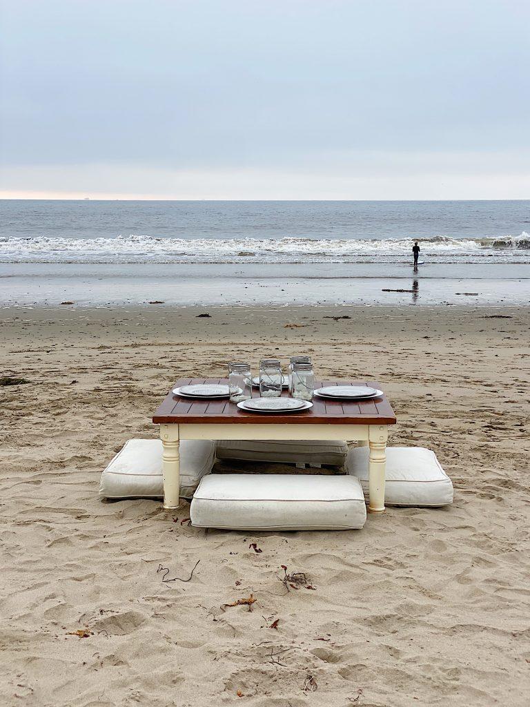 Dinner on the Beach Set up 4