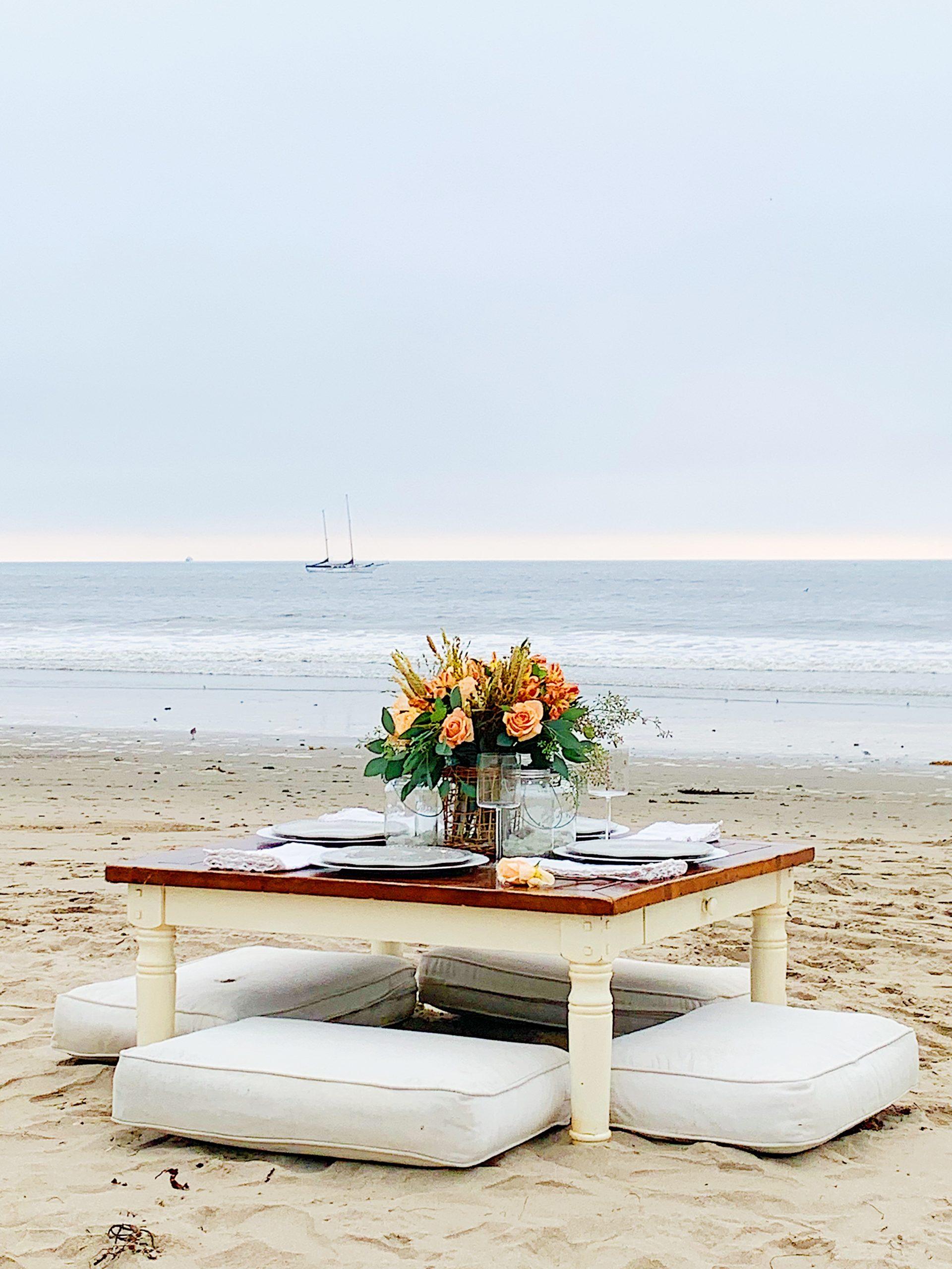 Dinner on the Beach on a Cloudy Day 1