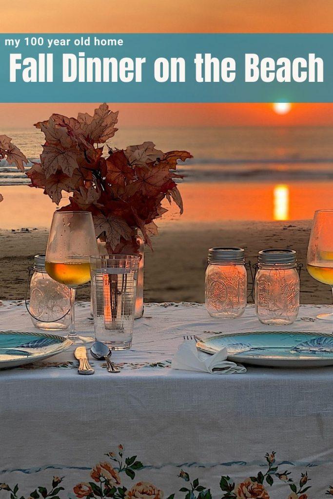 Fall Dinner on the Beach
