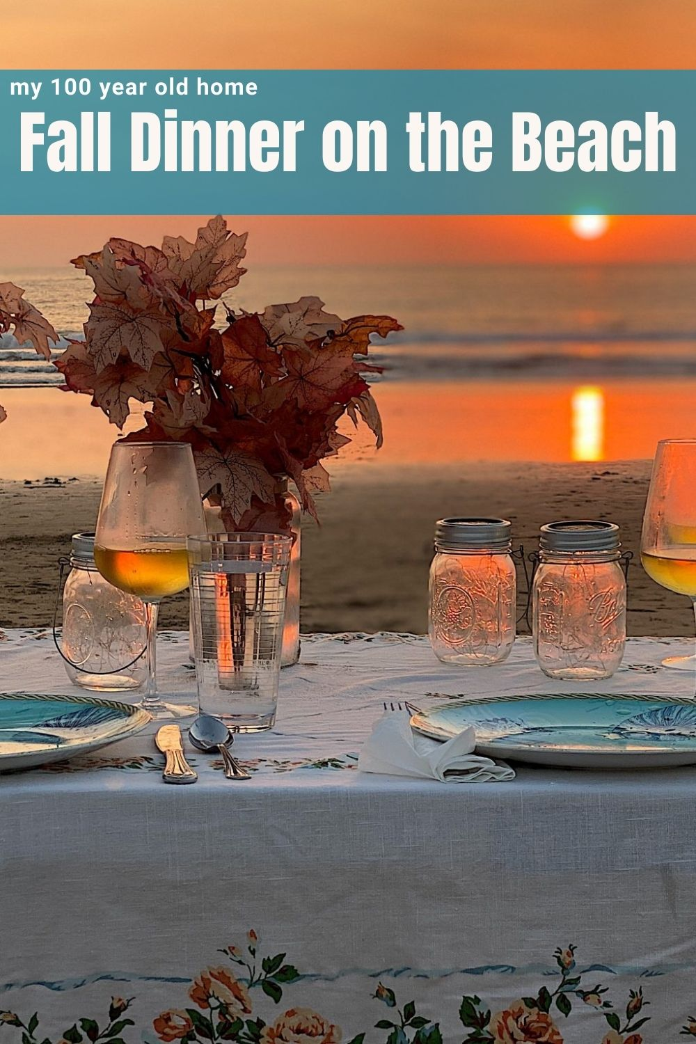 I love to entertain and serve dinner on the beach. The sunset provides an amazing backdrop for a fun dinner with girlfriends.