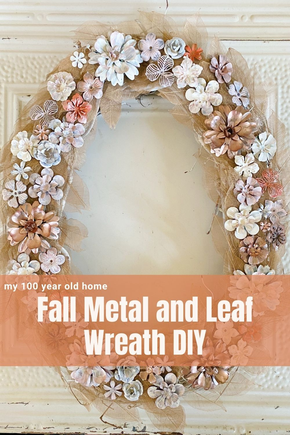 I am in love with an Anthropologie fall metal and leaf wreath but I made a similar one instead. Mine cost one quarter of the price to make and I love it!