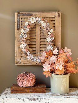 Fall Metal and Leaf Wreath DIY