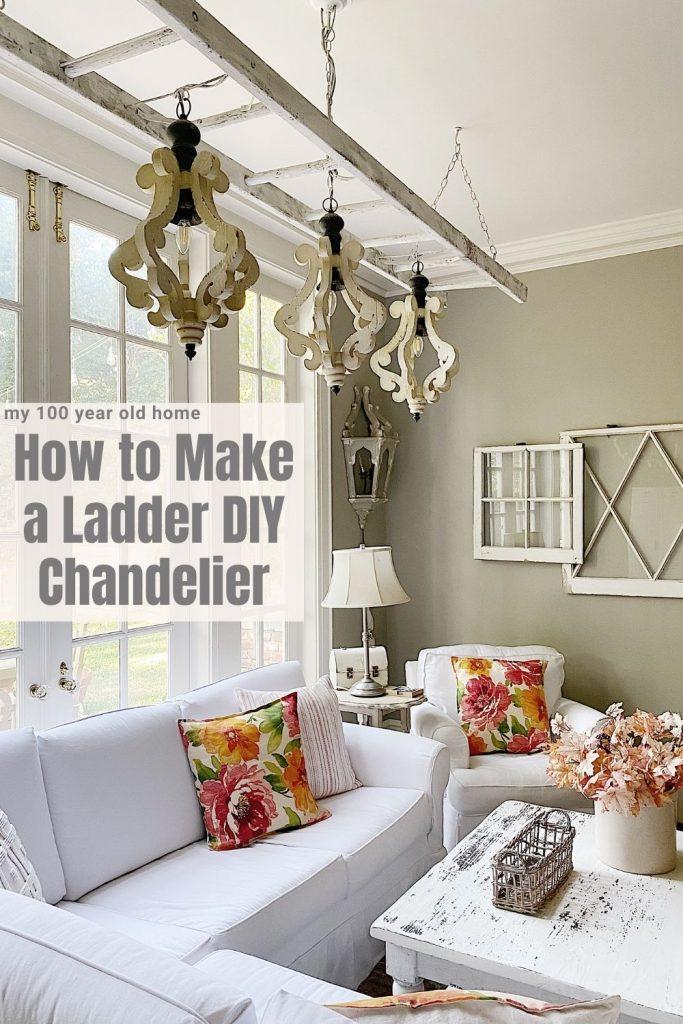 How to Make a Ladder DIY Chandelier