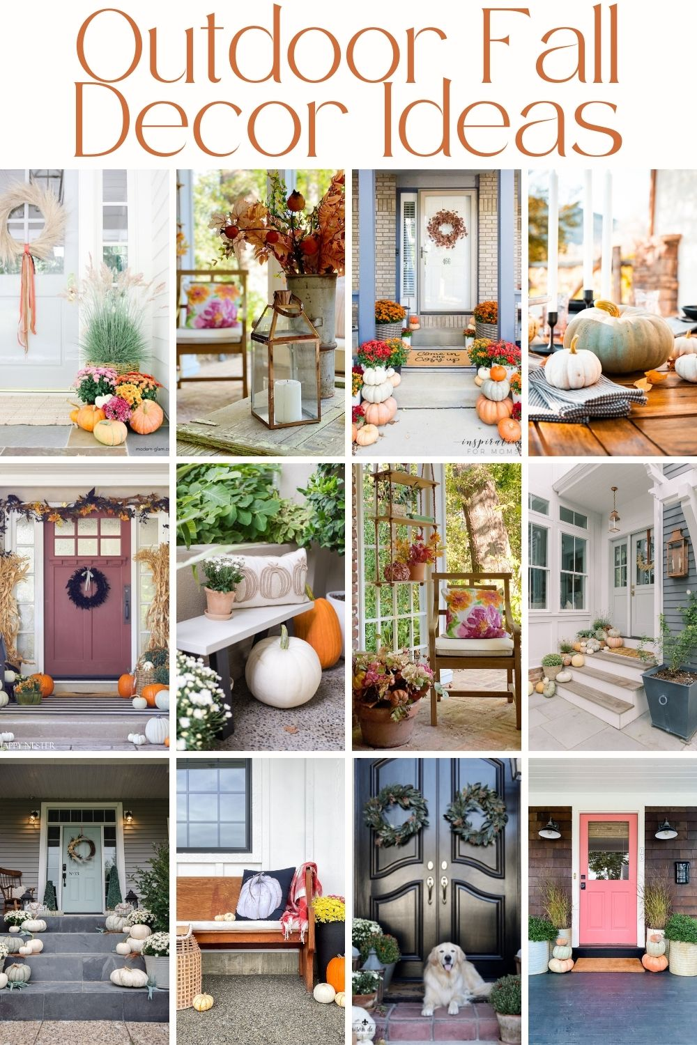 Fall is officially here and it is time to decorate your porch with outdoor fall decor. I love the fall pumpkins and fall pillows.