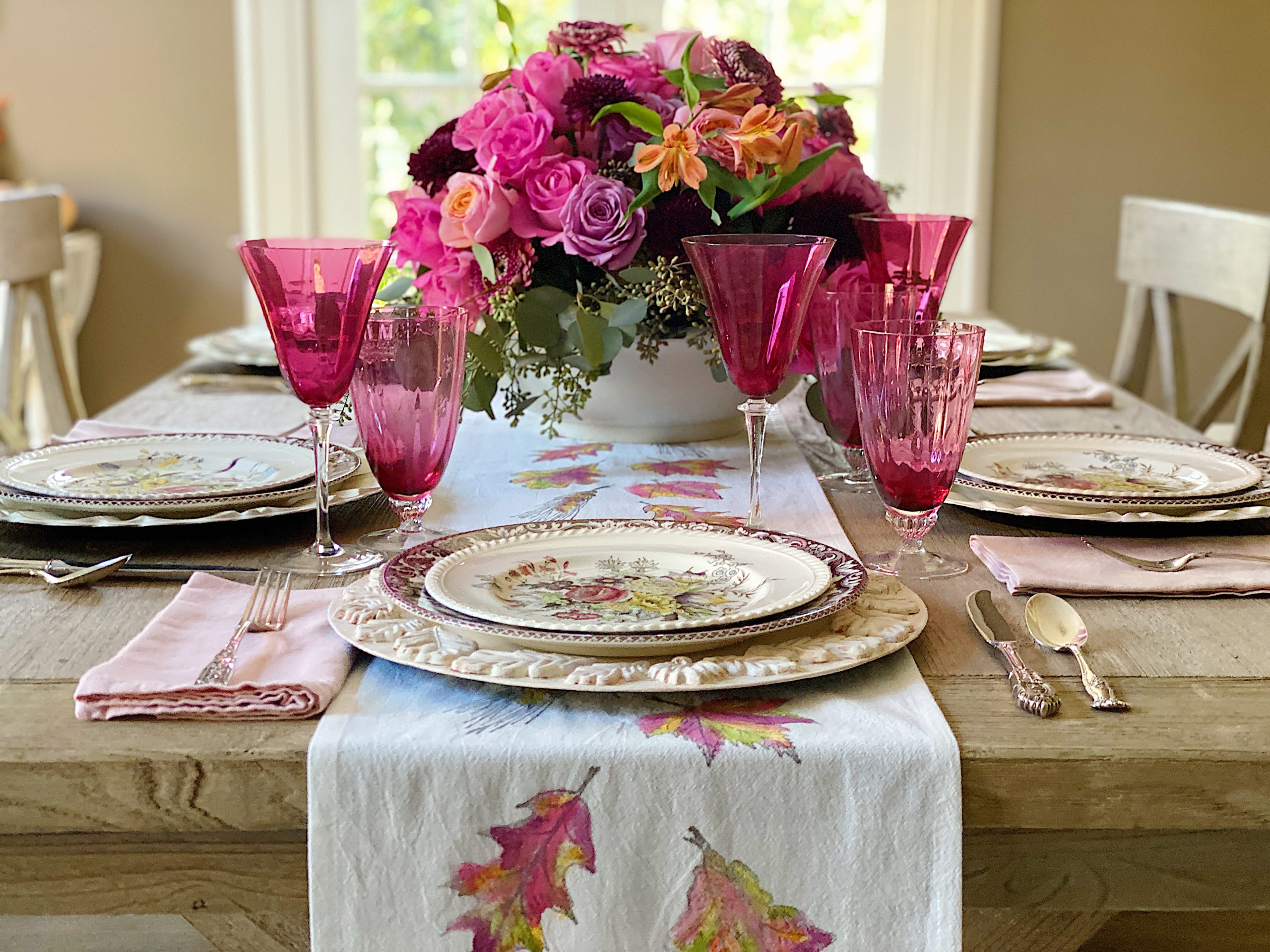 A Tablescape in Thanksgiving Colors 6