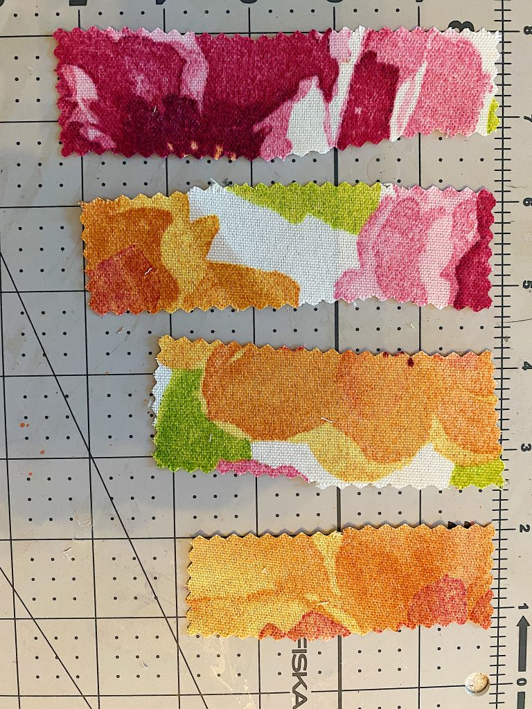 Cut Pieces of the Fabric
