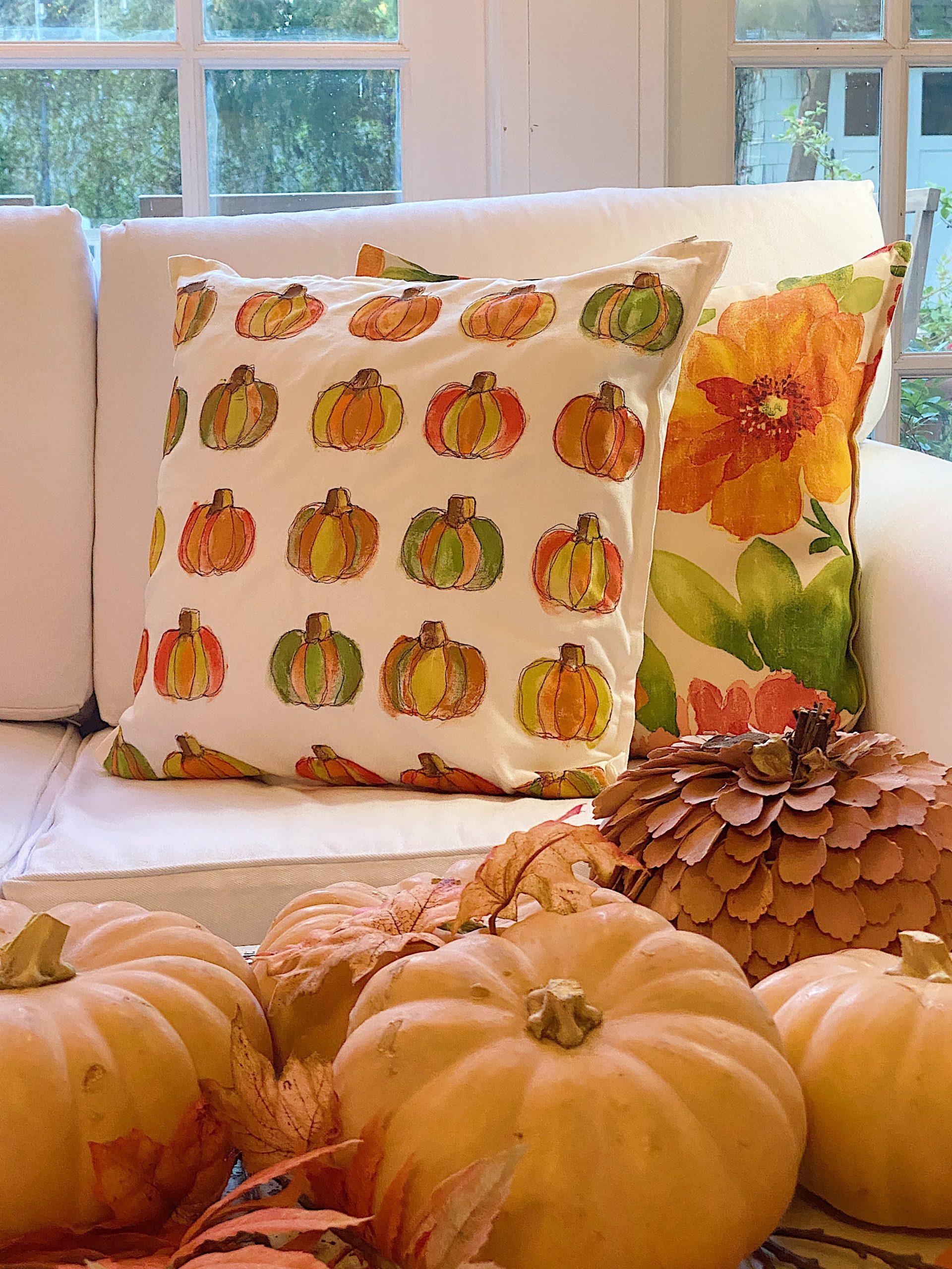 Fall Pumpkin Decor Pillow