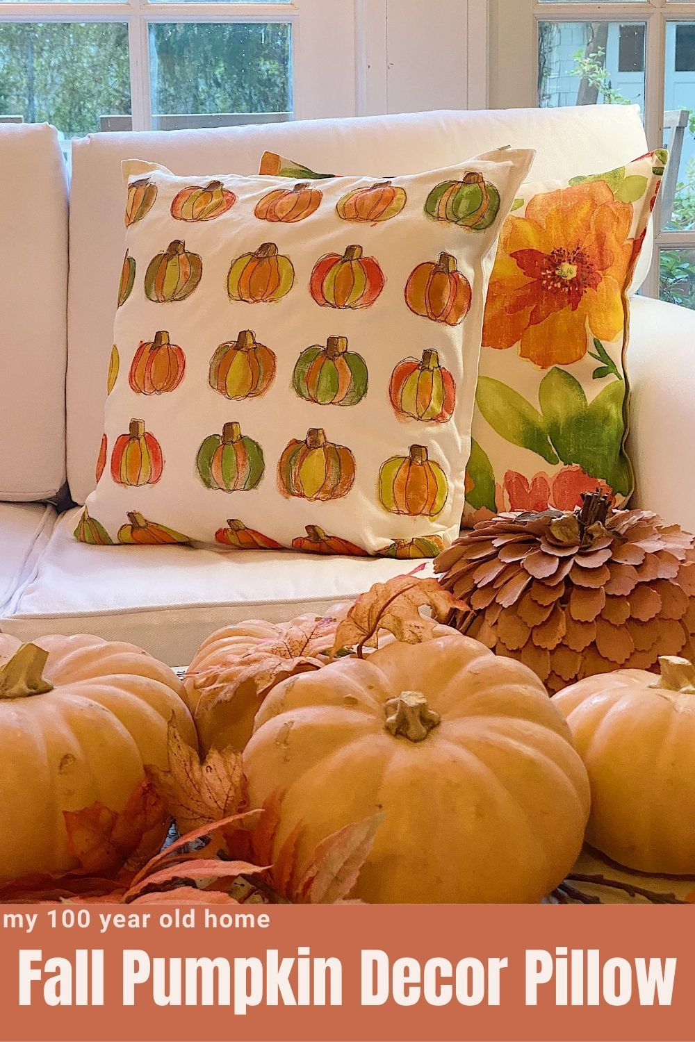 I love this pumpkin pillow and it's now one of my favorite fall pumpkin decor items. Who knew I could have so much fun making pumpkin crafts!