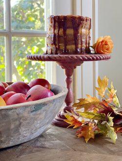 Salted Caramel Apple Thanksgiving Cake